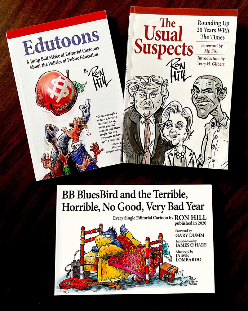 Ron Hill Act 3 cartoon books