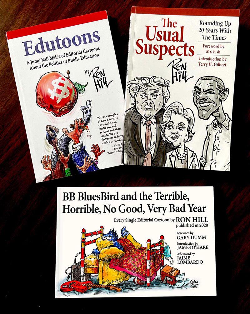 Ron Hill Act 3 cartoon books